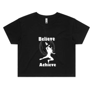 AS Colour - Womens Crop Tee- Believe & Achieve