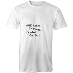 Mens T-Shirt-(Dis)ability awareness it's what I can do