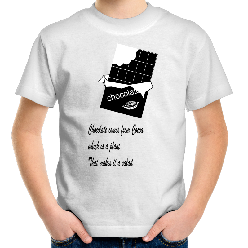 Girls Youth T-Shirt -chocolate salad