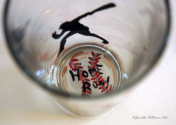 Home Run Pint Glass - Janelle Patterson Art