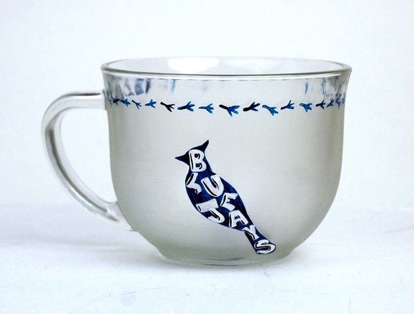 Blue Jay Glass Mug - Janelle Patterson Art