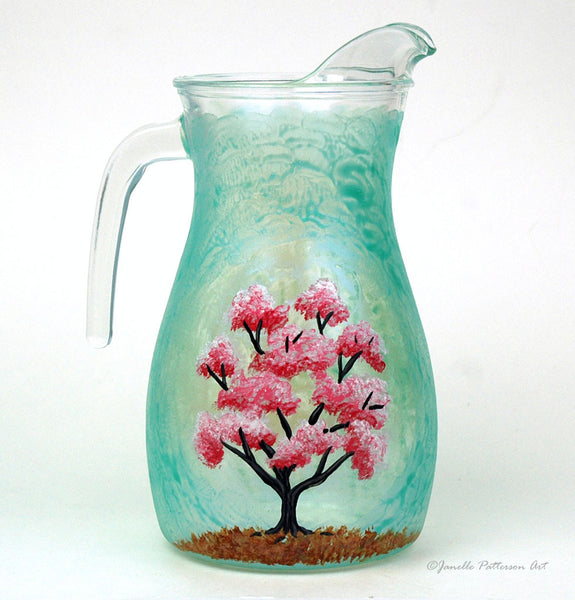 Cherry Blossom Pitcher - Janelle Patterson Art