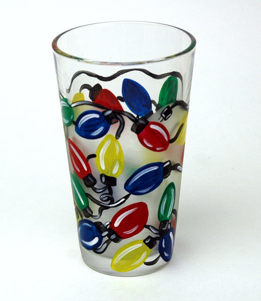 Christmas Lights Pint Glass