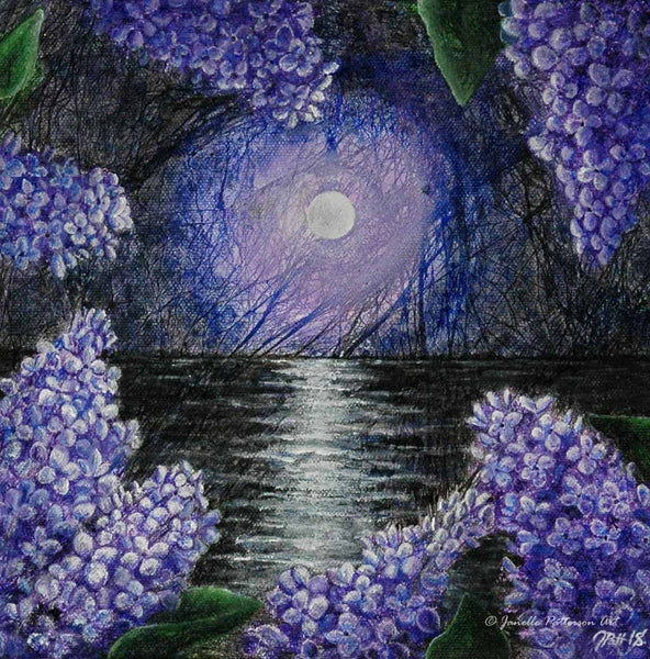 Lilacs Original Painting - Janelle Patterson Art