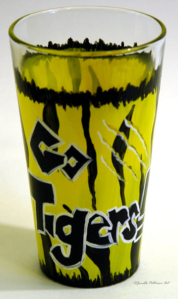 Go Tigers Pint Glasses - Janelle Patterson Art