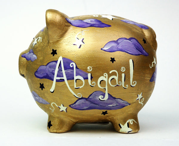 Custom Hand Painted Piggy Bank - Janelle Patterson Art