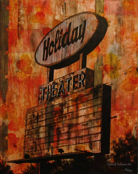 Holiday Theater Original Painting and Prints - Janelle Patterson Art