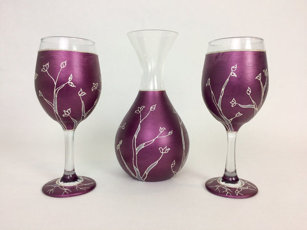 Pearl Spring Trees Wine Glass