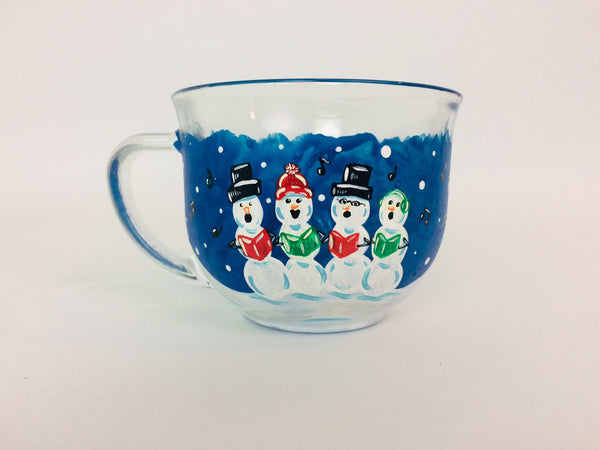 Snow Carolers Glass Mug