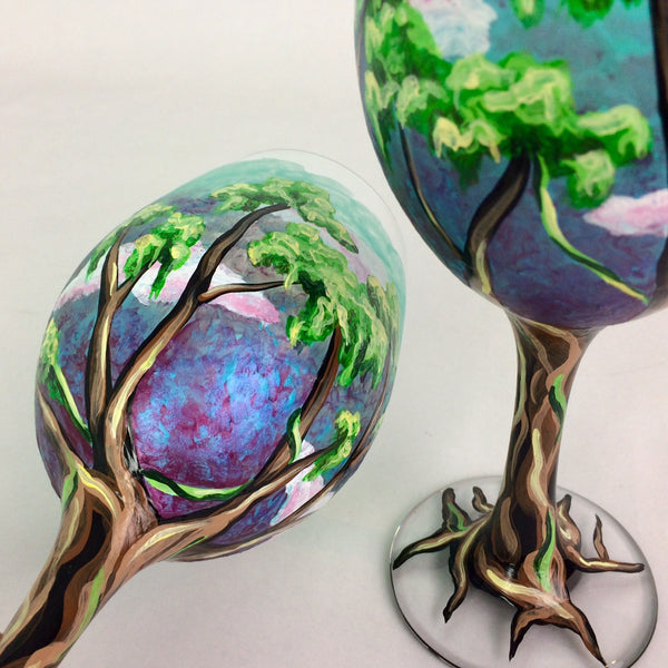 Fantasy Trees Wine Glass