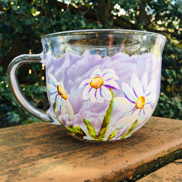 Daisy Glass Mug