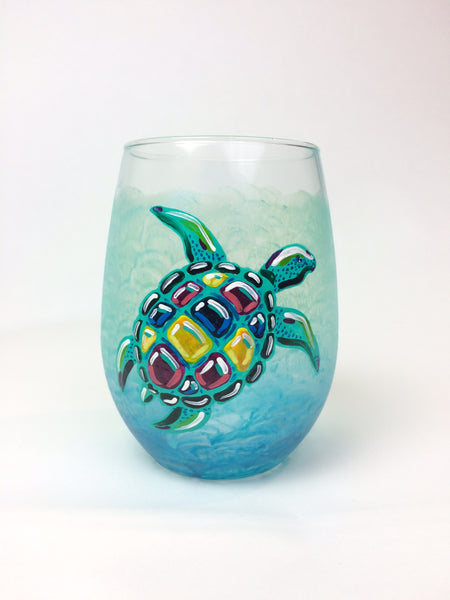 Custom Hand Painted Stemless Glass - Janelle Patterson Art