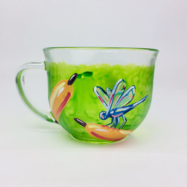 Dragonfly Glass Mug
