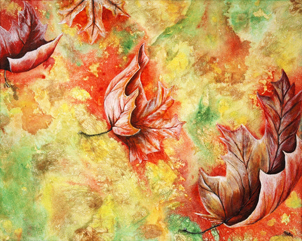 Leaves Original Painting