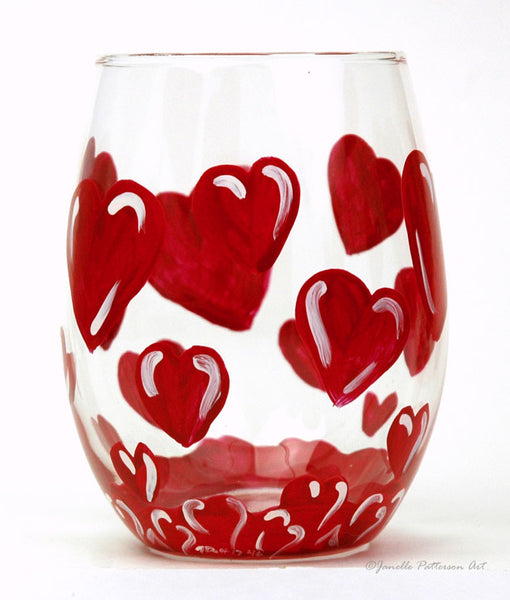 Love-A-Bubble Stemless Glass - Janelle Patterson Art