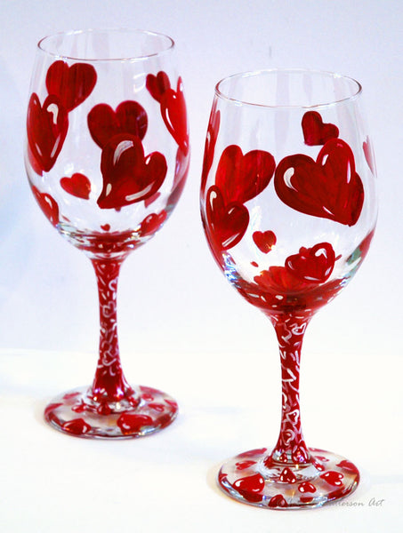 Love-A-Bubble Wine Glass - Janelle Patterson Art