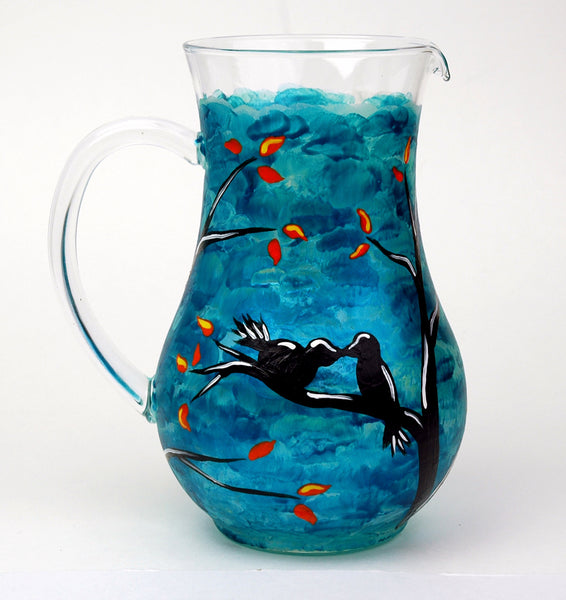 Love Birds Pitcher - Janelle Patterson Art