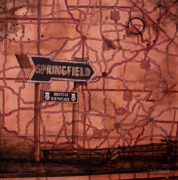 Mother Road Original Painting and Prints - Janelle Patterson Art