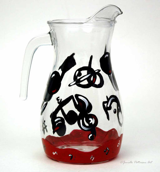 Music Note Pitcher - Janelle Patterson Art