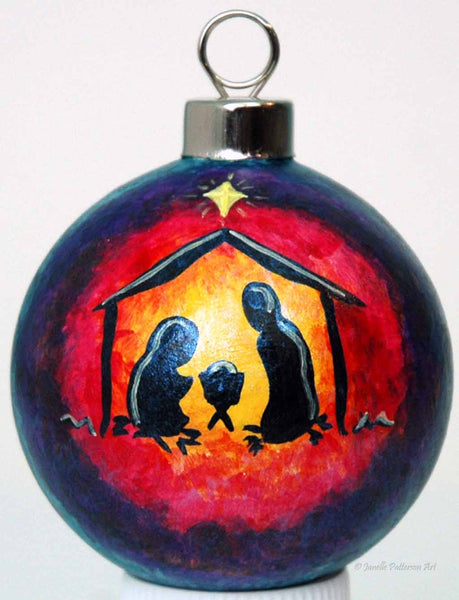 Nativity Ceramic Ornament - Janelle Patterson Art