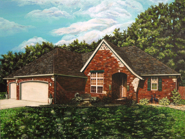 House Portrait Original Painting
