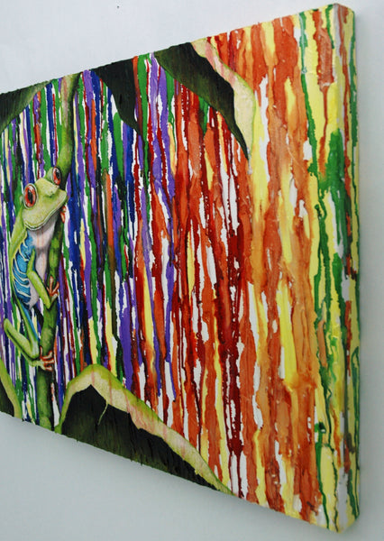 Rainbow Frog Original Painting