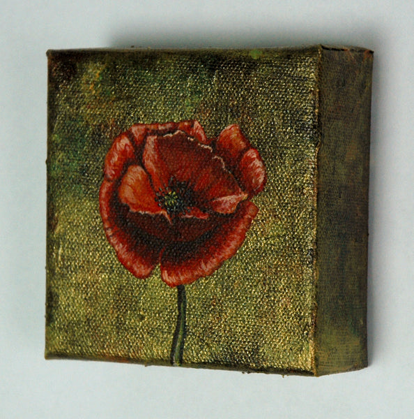 Red Poppy Mini Painting