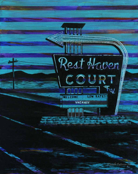 Rest Haven Court Original Painting and Prints - Janelle Patterson Art