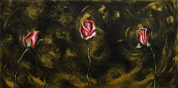 Rosebuds Original Painting