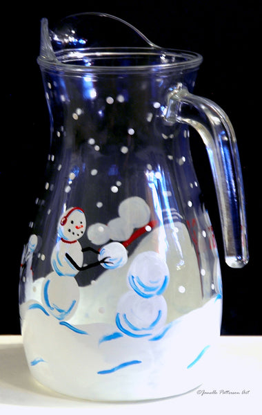 Snow Day Pitcher - Janelle Patterson Art