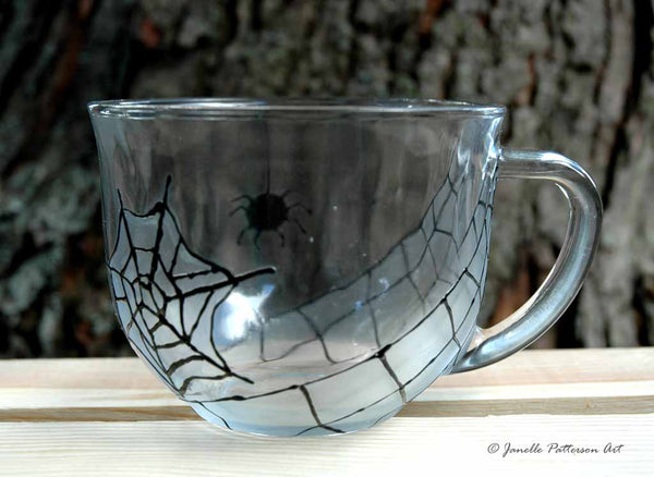 Spider Glass Mug - Janelle Patterson Art