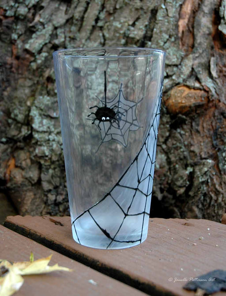 Spider Pint Glass - Janelle Patterson Art