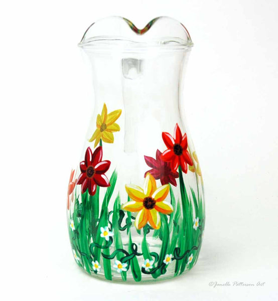 Spring Daisy Pitcher - Janelle Patterson Art