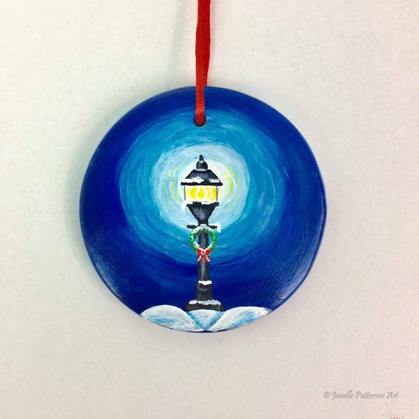 Street Light Ceramic Ornament