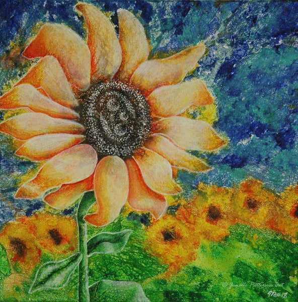 Sunflower Original Painting - Janelle Patterson Art