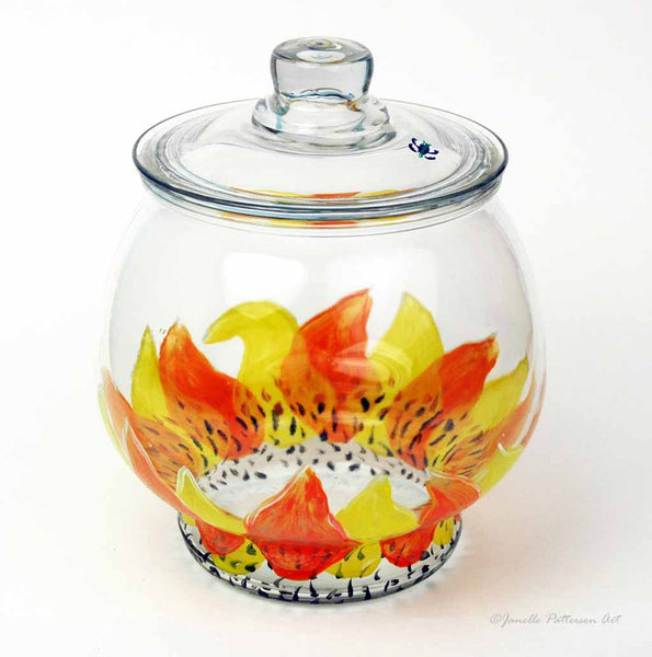 Sunflower Cookie Jar - Janelle Patterson Art