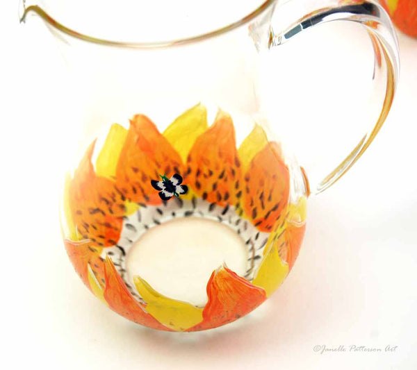 Sunflower Pitcher - Janelle Patterson Art