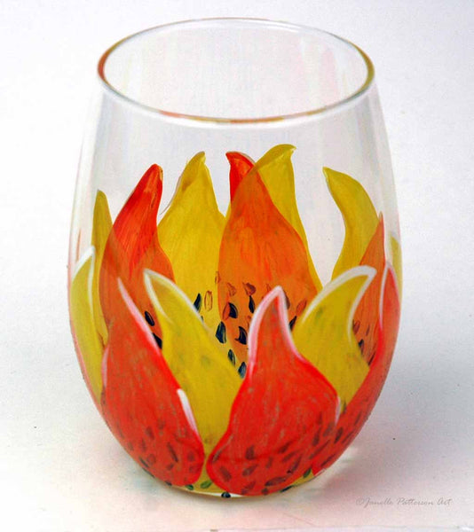 Sunflower Stemless Glass - Janelle Patterson Art