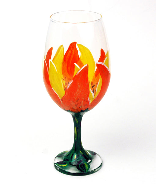 Sunflower Wine Glass - Janelle Patterson Art
