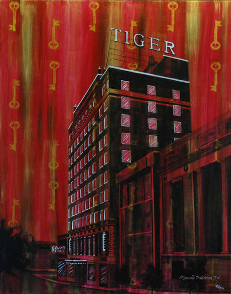 Tiger Hotel Original Painting and Prints - Janelle Patterson Art