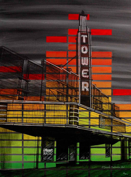 Tower Theater Original Painting and Prints - Janelle Patterson Art