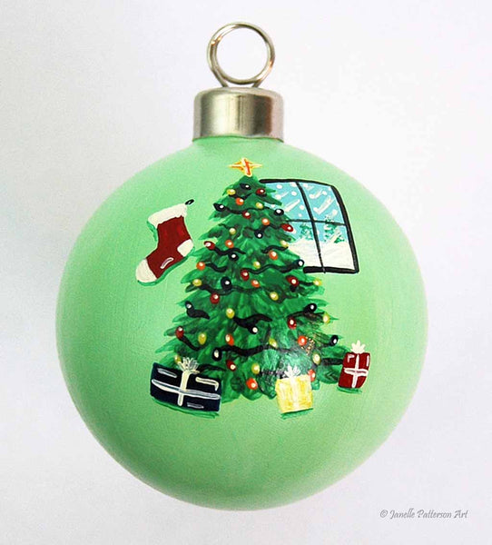 Custom Ceramic Ornament - Janelle Patterson Art