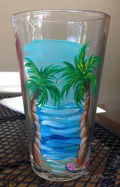 Tropical Pint Glass - Janelle Patterson Art