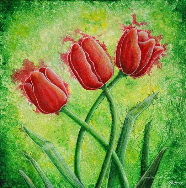 Tulips Original Painting - Janelle Patterson Art