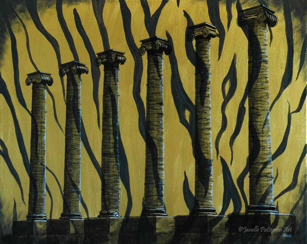 University of Missouri Columns Prints - Janelle Patterson Art