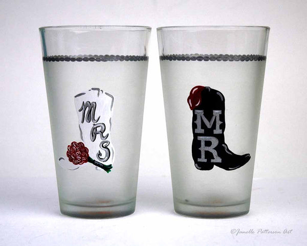 Custom Hand Painted Pint Glass - Janelle Patterson Art