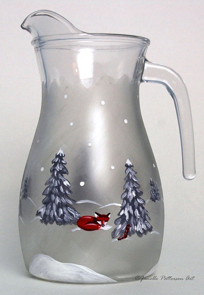 Woodland Christmas Pitcher - Janelle Patterson Art