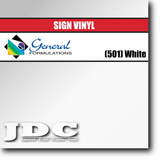 GF Direct (501) White Sign Vinyl Removable Matte Sign Vinyl | GF CC500MR | 24 in. x 150 ft. Wholesale Craft Sign Vinyl Monroe GA 30656