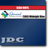 GF Direct (506) Midnight Blue Sign Vinyl Removable Matte Sign Vinyl | GF CC500MR | 24 in. x 150 ft. Wholesale Craft Sign Vinyl Monroe GA 30656