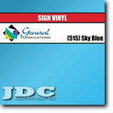 GF Direct (515) Sky Blue Sign Vinyl Removable Matte Sign Vinyl | GF CC500MR | 24 in. x 150 ft. Wholesale Craft Sign Vinyl Monroe GA 30656